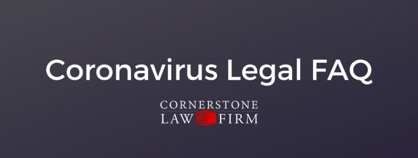 coronavirus legal questions